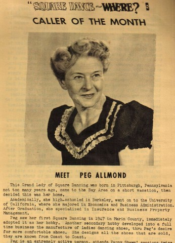 Caller of Month, Peg Allmond